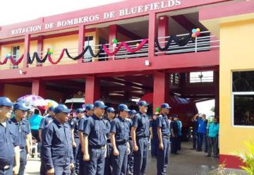 Inauguran nueva y moderna estación de Bomberos en Bluefields