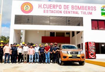 Bomberos de Tulum recibe una nueva unidad para emergencias