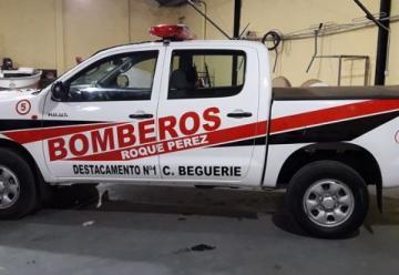 Bomberos Voluntarios de Roque Pérez adquirió una nueva unidad 4×4