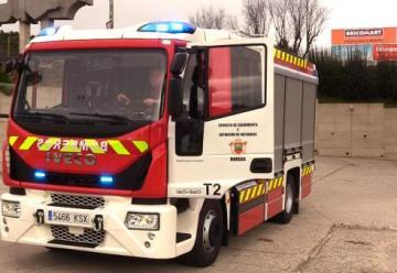 Los bomberos de Burgos incorporan a su flota un nuevo camión autobomba