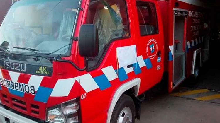 Bomberos de Suardi presentó la flamante autombomba