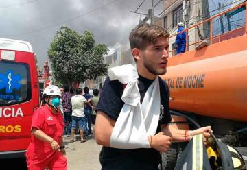 Dos bomberos resultan heridos por mal estado de equipos