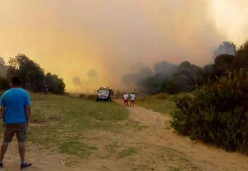 Está controlado el incendio de Villa Gesell