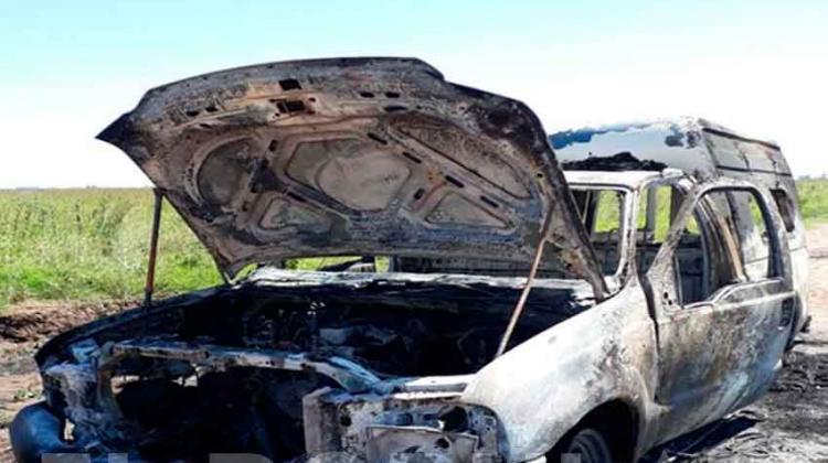 Se incendió una ambulancia municipal de Recalde
