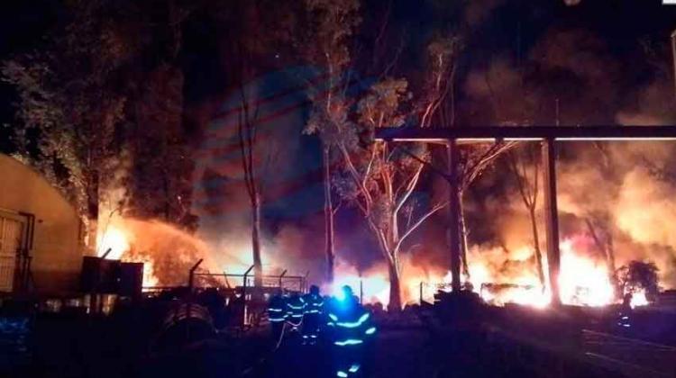 Gran incendio en el Parque Industrial Sauce Viejo