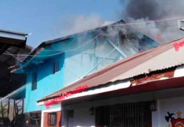 Incendio afectó el cuartel de bomberos de Santa María