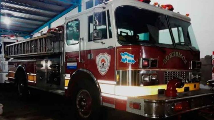 Los bomberos de Barrancas recuperaron su autobomba