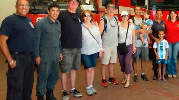Bomberos de Vancouver visitaron el Cuartel de Madryn