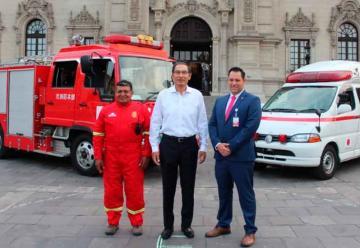 Vehículos donados por Japón son enviados a Moquegua