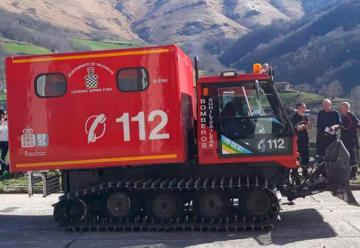 Vehículo de rescate en nieve para bomberos voluntarios de Luzaide
