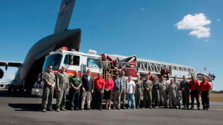 Estados Unidos dona camión a Bomberos de Managua