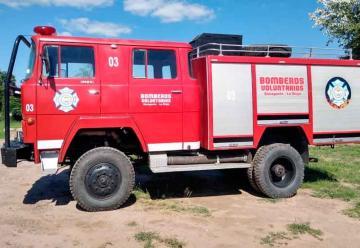 Bomberos de Sanagasta cuentan con una Autobomba