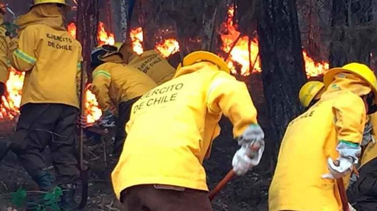 Decretan estado de catástrofe en Chile por incendios forestales