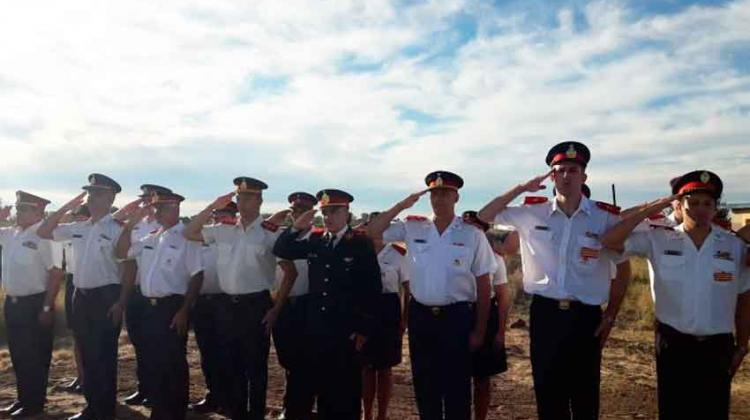 Sentido homenaje al bombero Voluntario Néstor Siracusa