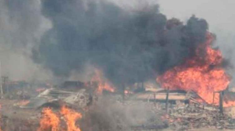 Incendio en almacén de reciclaje deja dos bomberos gravemente heridos