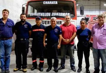 El CNBRA realizó una visita protocolar al cuartel de Bomberos Voluntarios