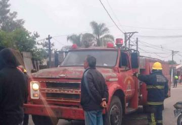 Por un desperfecto mecánico los Bomberos llegaron tarde a un incendio
