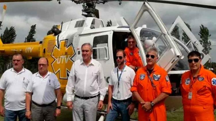 Bomberos Voluntarios hace convenio con empresa de emergencias aéreas