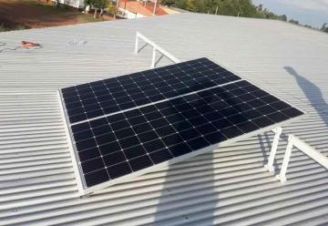 Bomberos Voluntarios de Pérez Millán instalan paneles solares