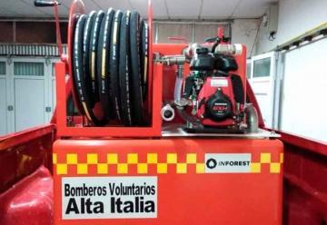 Bomberos de Alta Italia adquirieron nuevos equipamientos