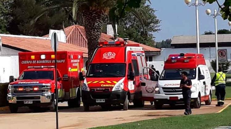 Bomberos sufrieron intoxicación en centro de entrenamiento