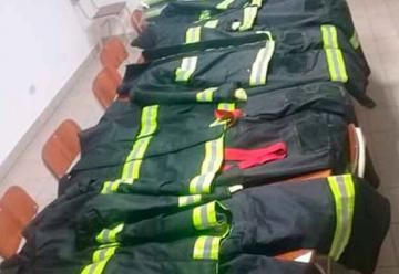 Bomberos Voluntarios de Crespo recibió indumentaria de Protección Personal