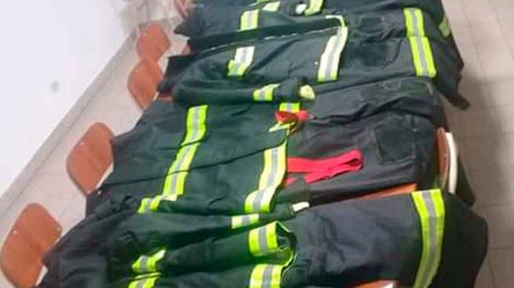 Bomberos Voluntarios de Crespo recibió indumentaria de Protección