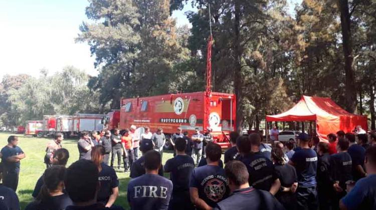 Más de 120 Bomberos Voluntarios participaron de una capacitación integral