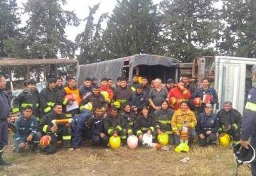 Bomberos se capacitaron sobre rescate en vehículos pesados