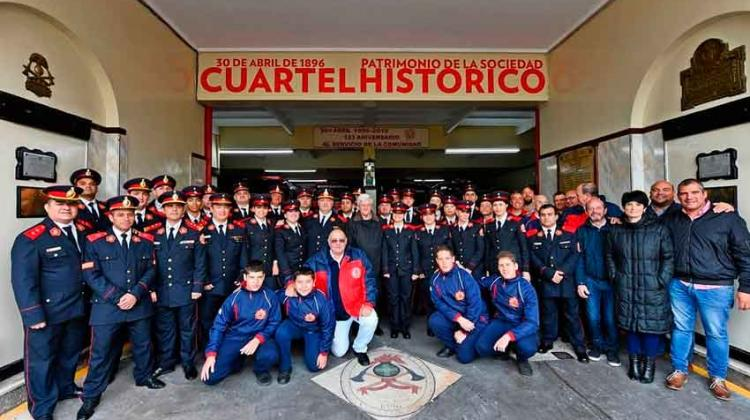 Bomberos de San Fernando festejaron su 123° aniversario