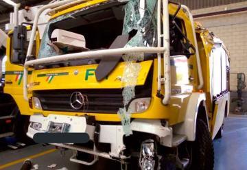 Un bombero forestal de La Rioja herido tras sufrir un accidente