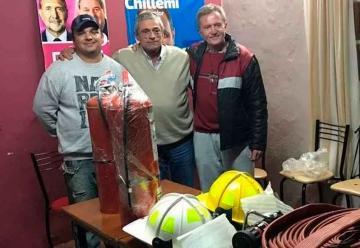 Bomberos Voluntarios de Maciel recibió las primeras donaciones