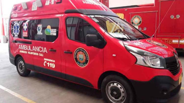 Ladrones atracaron una ambulancia de bomberos en el oriente de Cali