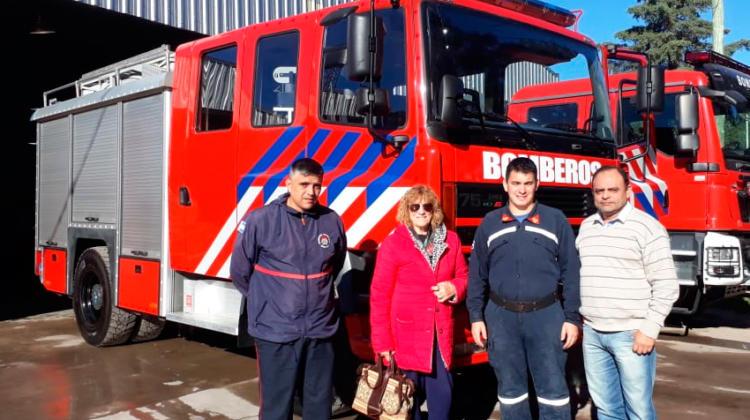 Nueva unidad adquirida por Bomberos Voluntarios de Rufino