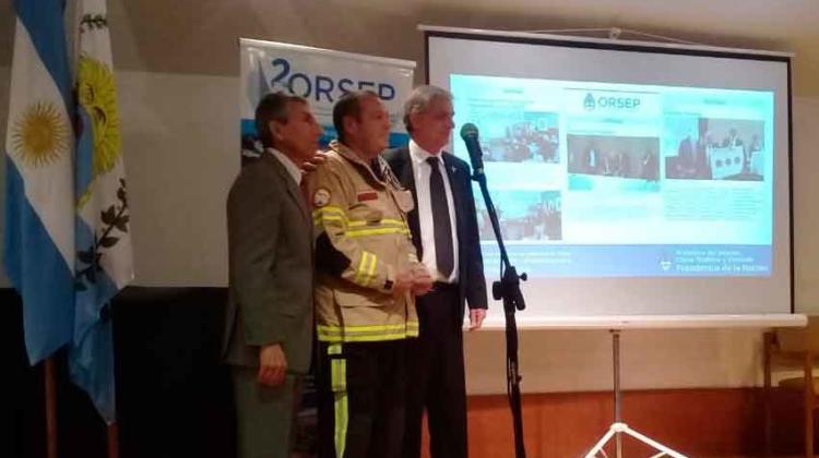 El Organismo Regulador de Presas premió a Bomberos Salto de las Rosas