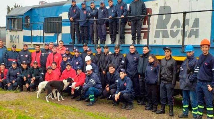 Personal de Bomberos se capacitaron en incendios de locomotoras
