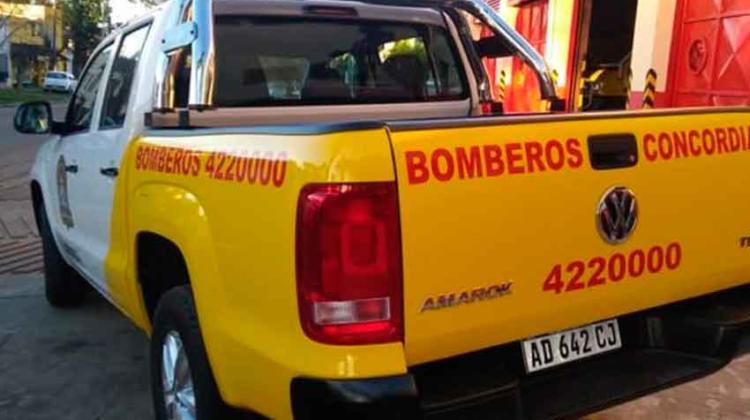 Bomberos Voluntarios de Concordia con nueva unidad
