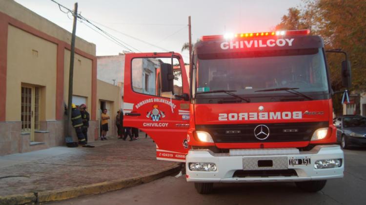 Móvil de los Bomberos Voluntarios de Chivilcoy