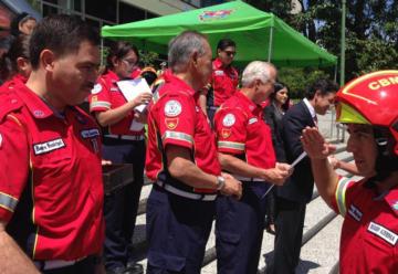 Graduación de nuevos Bomberos Municipales de Guatemala