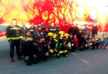 Bomberos de La Pampa se capacitaron en el CEMEC