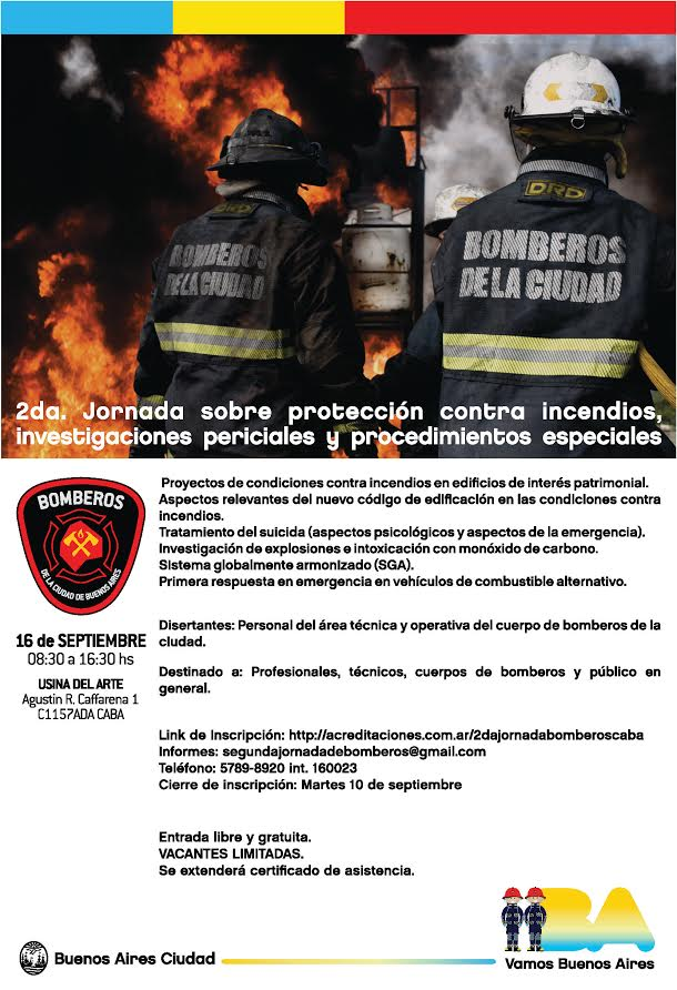 2da Jornada sobre Protección contra Incendios, Investigaciones Periciales y Procedimientos Especiales