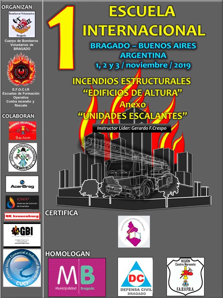 """1ra. Escuela internacional incendios estructurales """"edificios de altura"""""""