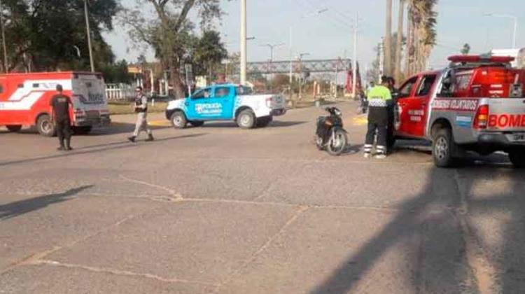 Camión de caudales y Bomberos protagonizaron un accidente de tránsito