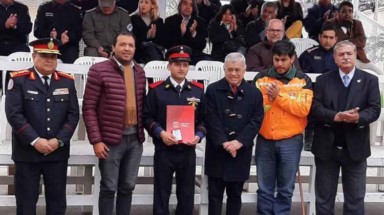 Presidente del Consejo Nacional felicitó a los Bomberos de Santa María
