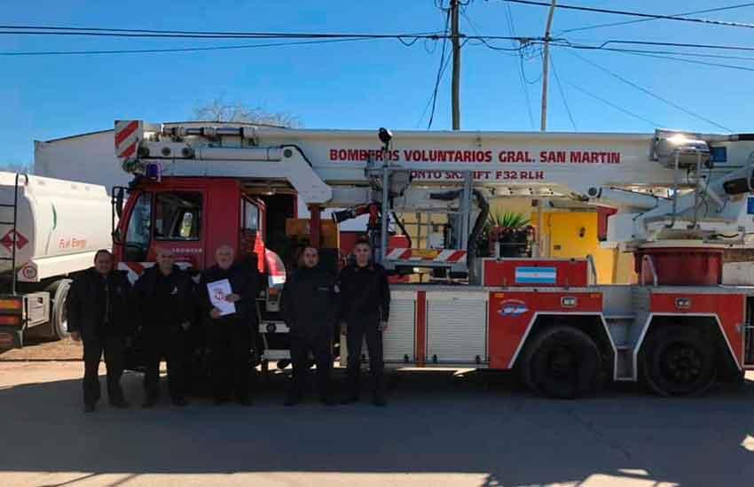 Bomberos Voluntarios de General San Martín con nuevo Hidroelevador