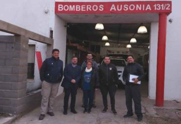 Funcionarios visitaron cuarteles de Bomberos en Córdoba y Santa Fe