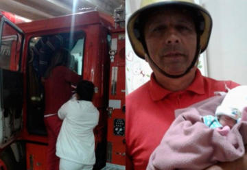 Beba nació en camión de Bomberos de Guayaibí