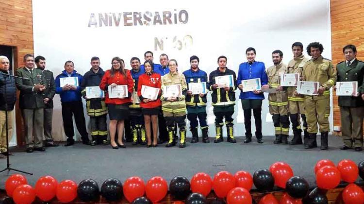 Bomberos de Chile Chico celebró 60 años al servicio de la comunidad