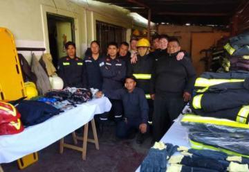 Bomberos Voluntarios recibieron equipos nuevos de Nación