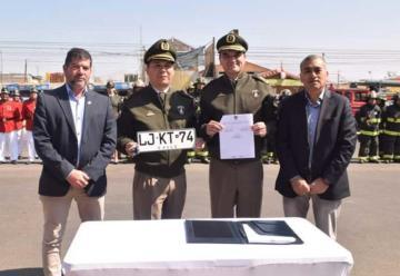 Compañía de Bomberos de Mejillones cuenta con nuevo carro